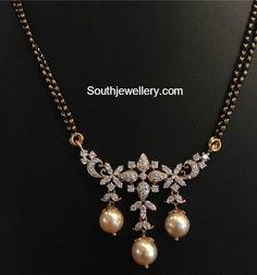 Black Beads Mangalsutra Chain Models photo
