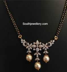 Black Beads Mangalsutra Chain Models photo