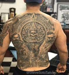 20 Best Tattoos from Amazing Tattoo Artist Steve Soto Doozy List Hi Here we have nice picture about Popular tattoo. We wish these photos ca. Forarm Tattoos, Chicano Tattoos, Body Art Tattoos, Cool Tattoos, Tattos, Mayan Tattoos, Mexican Art Tattoos, Aztec Tattoos Sleeve, Aztec Warrior Tattoo