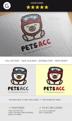 Pet Accessories Logo Design Template Animals Logo Template Vector EPS, Ai Illustrator. Download here: https://graphicriver.net/item/pet-accessories-logo/19014025?ref=yinkira