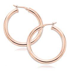 Everyone needs Hoops. 14KT Rose Gold Hoop Earrings. Style #03/225R
