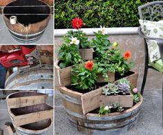 Wine Barrel Planter FB