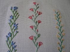 I ❤ embroidery . . . some stitching that makes crazy quilting so beautiful . . . feather 003-  by Lin Moon