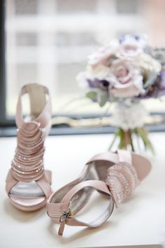 pink & silver wedding shoes