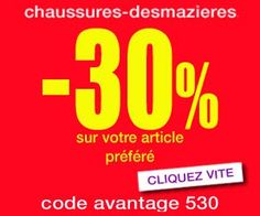 Chaussures Desmazières : -30% de remise immédiate via un code avantage + livraison gratuite dès 40 euros | Maxi Bons Plans