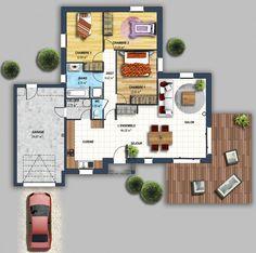plan de maison en bois contemporaine en kit de presque With attractive plan maison etage 100m2 6 projets immobiliers loire atlantique 44