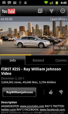 Skippable Pre-Roll Ads Come To YouTube Mobile