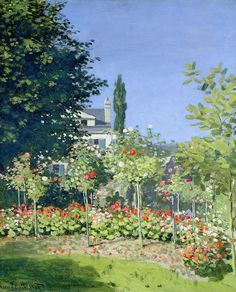 Claude Monet: Jardin en fleurs Oscar-Claude Monet (1840 – 1926) was a founder of French Impressionist painting, and the most consistent and prolific practitioner of the movement's philosophy of expressing one's perceptions before nature, especially as applied to plein-air landscape painting.(Wikipedia)