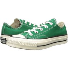 Converse Chuck Taylor All Star '70 Ox Athletic Shoes, Green ($50) ❤ liked on Polyvore featuring shoes, converse, landry shoes, sneakers, green, converse footwear, star shoes, converse shoes, rubber shoes and metallic shoes