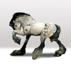 Raku horse, from rittersculptures.com,  via Stonefinder