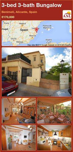 3-bed 3-bath Bungalow in Benimeli, Alicante, Spain ►€170,000 #PropertyForSaleInSpain