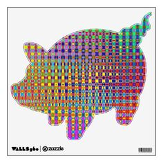 Psychedelia Piggy Bank Wall Decal