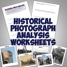 This historical photo analysis worksheet makes for a great back to school activity for history or to use in any unit! The worksheet features 10 h. Teaching Us History, History Education, History Class, Teaching Resources, 5th Grade Social Studies, Social Studies Classroom, Teaching Social Studies, Back To School Activities, School Ideas