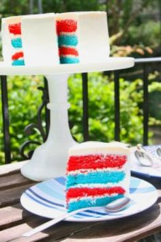 Here I share with you another great dessert option for Fourth of July! Cake is always a great option for dessert. No matter how many new and exciting dess