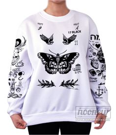 Larry Stylinson Tattoo Sweatshirt Sweater Crew Neck by Noonew