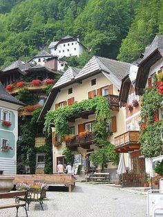Town Square, Hallstatt, Austria