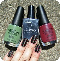 Concrete and Nail Polish: Sation Weed Out The Wimps & Nails Inspired By I Am Definitely Addicted!
