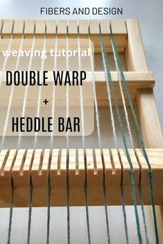 Build density in weaving by double warping the loom. Weaving with a heddle bar manages the higher density of warp yarns. Weaving Loom Diy, Rug Loom, Weaving Art, Weaving Projects, Macrame Projects, Weaving Designs, Cricket Loom, Loom Board, Diy Bar