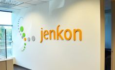 DImensional Letters & Logo for Jenkon's office #OfficeSigns #BusinessSigns #InteriorSigns #Signs #VancouverWa