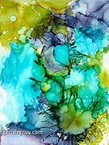 Alcohol Inks on glossy paper - How to Play with Paper Techniques 2 | EXPLORATIONS