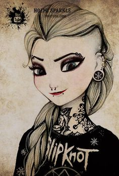 #frozen #fever #elsa #letitgo #anna #punk #rebel #jackfrost #vs snow white ##smile #drawing #art #noemisparkle
