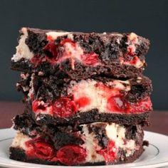 Cherry Cheesecake Brownies + RECIPE VIDEO