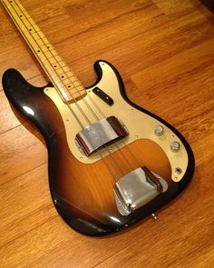 """""""Because you just have to have one bass...here is one the boys @fenderguitar gave me a few years ago. Here's my 2012 Fender American Vintage '57 Precision…"""""""
