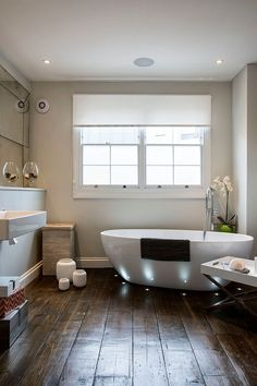 Stellar lighting and floor detail for the bathroom | In-Floor Lighting: 10 Sparkling Ways to Highlight and Style!