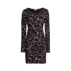 H&M Short Jersey Dress $11.04 ($11) ❤ liked on Polyvore featuring dresses, long sleeve short dress, long sleeve jersey dress, short length dresses, longsleeve dress and short dresses