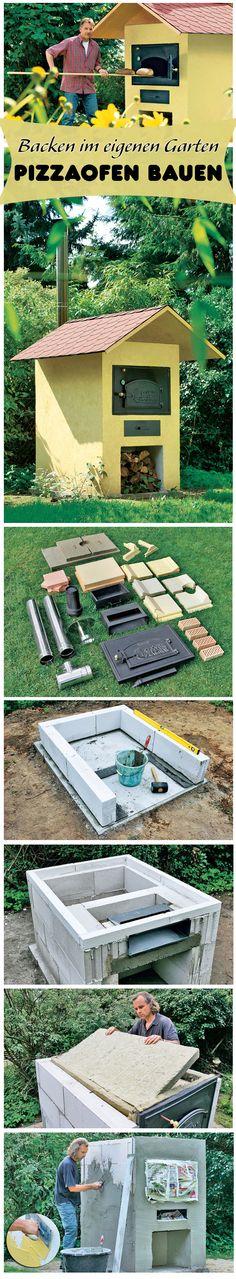 Mit einem Holzofen im eigenen Garten kannst du Pizza, Brot und anderes Gebäck in der Natur backen. Wir zeigen dir, wie du einen Pizzaofen selbst bauen kannst. Der Bau ist dank Bausatz sehr einfach durchzuführen.
