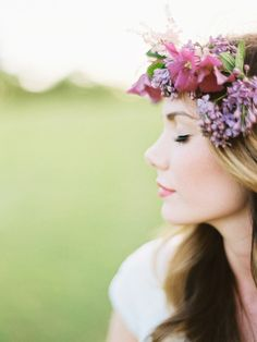 [by Ryan Ray] Floral Crowns are stunning and this one is beautiful!  #radiantorchidweddings #flowers