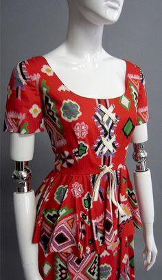 OSCAR DE LA RENTA Peasant Dress
