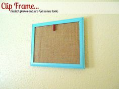 Clip display frame- switch photos and art