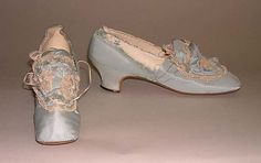 1870, France - Silk shoes