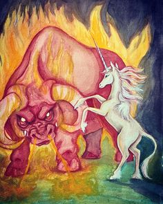 The Last Unicorn, Fantasy Story, Arches, Nostalgia, Animation, Watercolor, Paper, Painting, Instagram