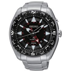 3a9f5795fd3 Seiko Men s SUN049 Kinetic GMT Watch Relógios Masculinos