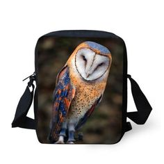 Owl Print Messenger Bag