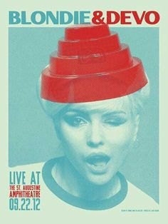 Blondie / Devo Concert Poster via Gig Poster -.You can find Gig poster and more on our website.Blondie / Devo Concert Poster via Gig Poster -. Gig Poster, Punk Poster, Cover Design, Art Design, Tour Posters, Band Posters, Design Graphique, Art Graphique, Vintage Concert Posters