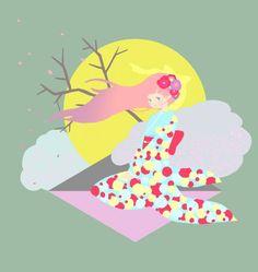 kimono girl Pastel Colors, Tweety, Kimono, Illustration, Artwork, Fictional Characters, Pastel Colours, Work Of Art, Auguste Rodin Artwork