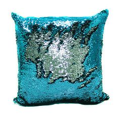 These shimmery sequin pillows. | 21 Things You Need To Turn Your Home Into A Mermaid's Grotto