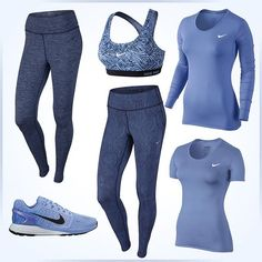 #getinspired_no #nikenews #welove #nikewomen #fashion #sportfashion #allblue #aktivejenter #trening #workout