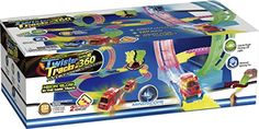 Mindscope Twister Tracks Trax 360 Loop 15 feet of Neon Glow in the Dark Track with Two LightUp Pulse LED Vehicles Emergency Vehicle Series *** Read more reviews of the product by visiting the link on the image. (Note:Amazon affiliate link)