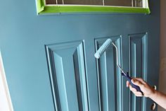 Great hints on painting a front door!