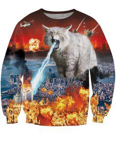 Cat Dresses, Cat Dad, Cat Shirts, Funny Shirts, Printed Sweatshirts, Crazy Cat Lady, Crew Neck Sweatshirt, Hoodie, Shirt Style
