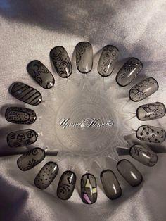 #гель_лак #лак #маникюр #дизайн_ногтей #ногти #кружева #sheer_black #маникюр_новый_год   МАТЕРИАЛЫ для НОГТЕЙ: http://amoreshop.com.ua