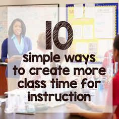 There are lots of things happening in our classrooms that either waste time or just make lessons take longer than they need to. If you struggle with lesson planning because you just don't have time to teach everything you're supposed to, these easy tips and productivity hacks will help you maximize every moment with students.