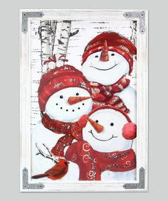 Snowman Family Wall Art - Wood Frame with Metal Accents Family Wall Art, Family Painting, Painting Snow, Diy Painting, Pallet Painting, Merry Christmas Family, Christmas Tree With Gifts, Christmas Crafts, Christmas Items