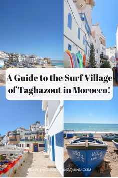 A Guide to the Surf Village of Taghazout in Morocco! Taghazout is a village on the coast of Morocco, not too far from Adagir. Taghazout is well-known for its surfing and its chilled out hippy vibe but you don't have to surf or be a pro surfer to enjoy Taghazout! #taghazout #morocco #surfmorocco #surftravel