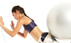 The Stability Ball Flab-Fighting Workout~                                       Butt Burner