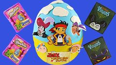 GIANT Surprise Egg Jake and the Neverland Pirates Play Doh LEGO Shopkins...